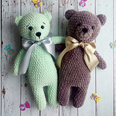 Free Amigurumi Bear Toy Softies Crochet Patterns | Crochet bear ... | 480x480