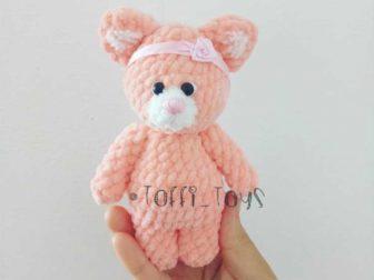 Baby Knitting Patterns Amigurumi Tiny Window Cat Softies Toy Free ... | 563x750