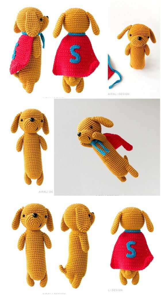 Dash the Dachshund Pup; CROCHET PATTERN; PDF | Crochet dog ... | 1024x560