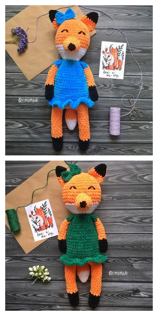 Fox With Goose Stuffed Toys Cute Fox Amigurumi Animal Foxes ... | 1024x512