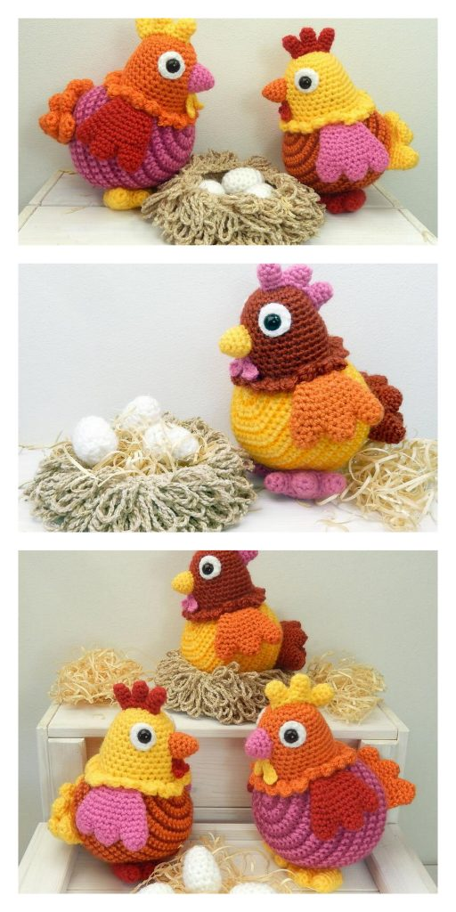 Amigurumi Chicken Free Crochet Pattern - Amigurumi Crochet Patterns | 1024x512