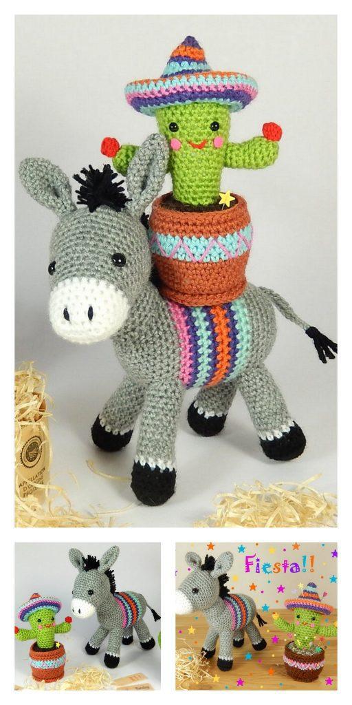 Donkey amigurumi crochet pattern : PlanetJune Shop, cute and realistic crochet  patterns & more | 1024x512