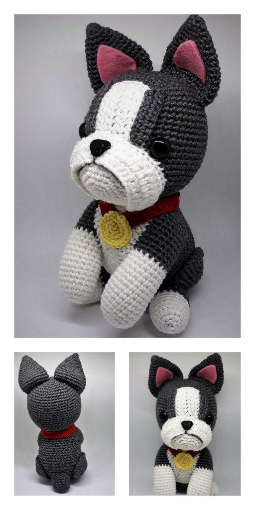 Boston Terrier puppy crochet pattern - Amigurumi Today | 1024x512