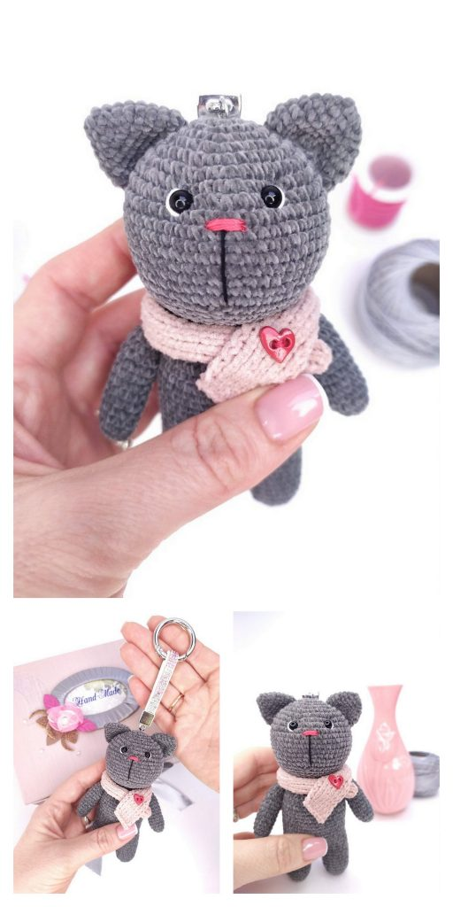 Crochet pattern of mouse, toy for cat PDF ternura amigurumi english | 1024x512